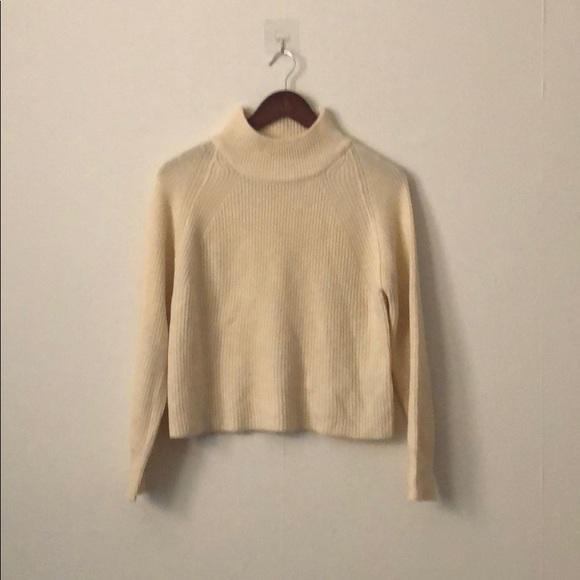 Asos Sweaters White Cropped Turtleneck Sweater Poshmark